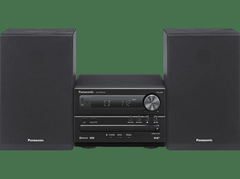 PANASONIC SC-PM 254 EG-K Kompaktanlage (Schwarz)