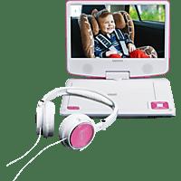 LENCO DVP-910 Trabbarer DVD-Spieler, Pink