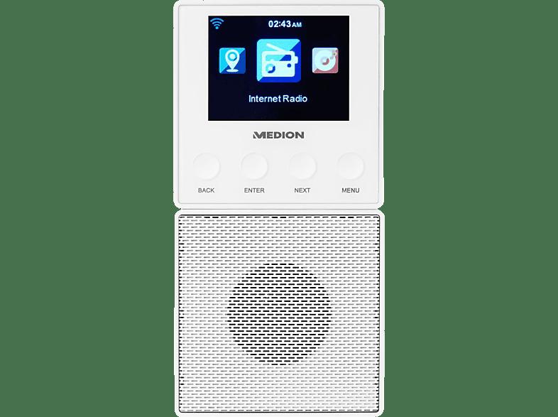 MEDION MD87248 Steckdosen-Internetradio (Weiß)