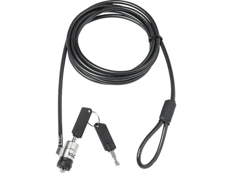 DICOTA Security T-Lock Pro, Single (3 x 7 mm slot), Schloss, Schwarz/Silber