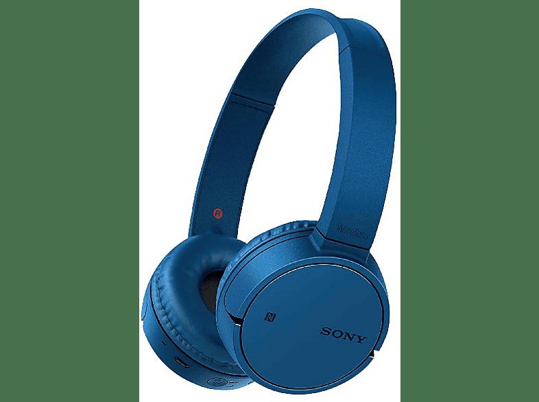 SONY WH-CH500, On-ear Kopfhörer Bluetooth Blau