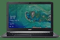 ACER Aspire 7 (A715-72G-74ZB), Notebook mit 15.6 Zoll Display, Core™ i7 Prozessor, 8 GB RAM, 128 GB SSD, 1000 GB HDD, GeForce® GTX 1050, Schwarz (Aluminium A- & C-Cover)