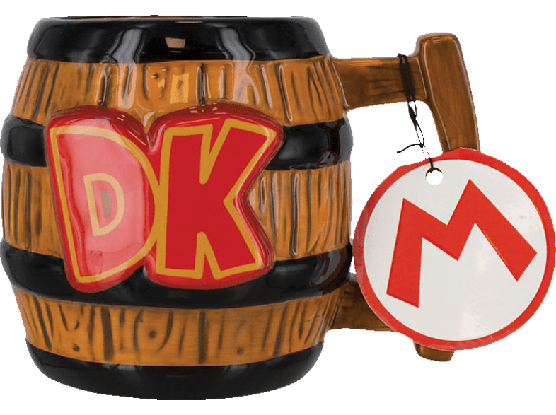 PALADONE PRODUCTS Donkey Kong 3D Becher 300ml Tasse, Mehrfarbig