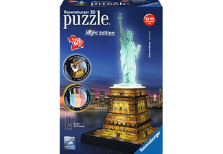 RAVENSBURGER Freiheitsstatue bei Nacht 3D Puzzle Mehrfarbig