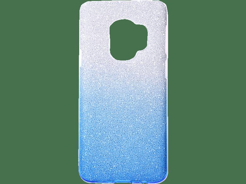 V-DESIGN VSP 028 , Backcover, Samsung, Galaxy S9, Plastik + Thermoplastisches Polyurethan, Blau