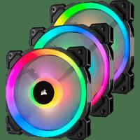 CORSAIR LL120 RGB, 120-mm-LED-PWM-Lüfter mit doppelter RGB-Lichtschleife Gehäuselüfter