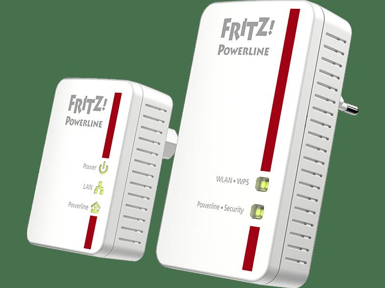 Powerline Adapter AVM FRITZ!Powerline 540E WLAN Set 500 Mbit/s Kabellos und Kabelgebunden