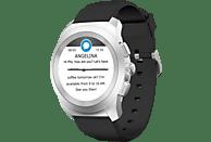 MYKRONOZ  ZeTime Petite Original Brushed Hybrid Smartwatch, Silikon, 210 mm, Silber/Schwarz