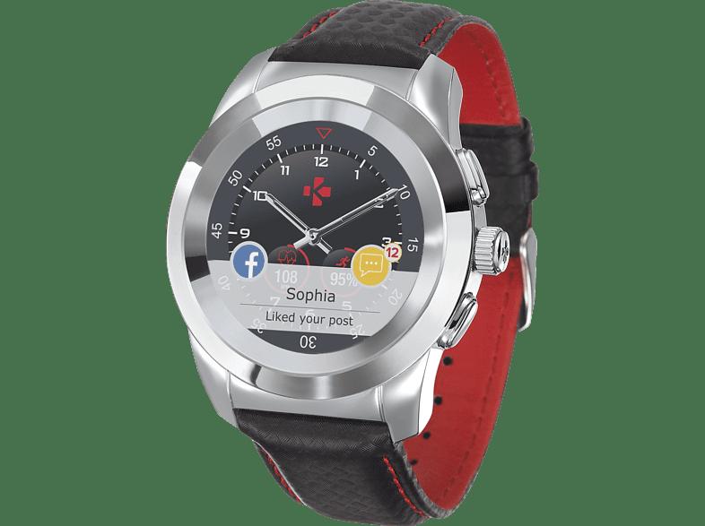 MYKRONOZ  Zetime Petite Premium Brushed Hybrid Smartwatch, Echtleder, 210 mm, Silber