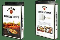 JIM BEAM 701611 XXL Grillwender und Pizzaschaufel, Silber/Hellbraun
