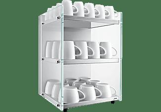 JURA Tassenwärmer aus Edelstahl mit Weißglas-Elementen (70086)