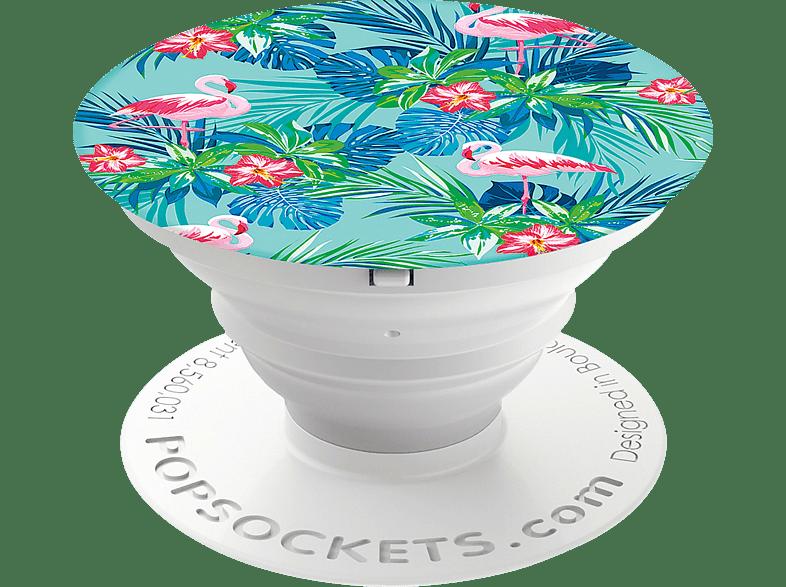 POPSOCKETS PopSocket Rainforest Flamingos Handyhalterung, Mehrfarbig