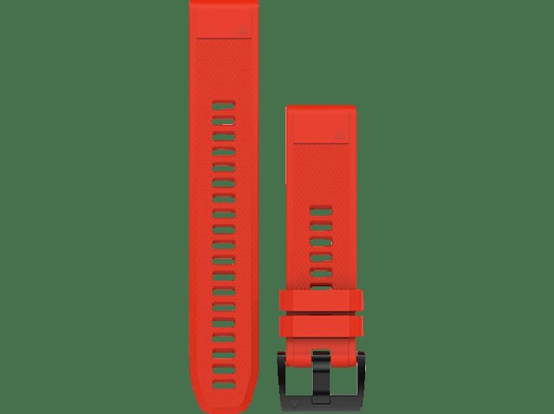 GARMIN Quickfit, Ersatzarmband, GARMIN®, Approach® S60 / Fenix® 5 / Forerunner® 935 / Quatix® 3/5 Saphir, Feuerrot