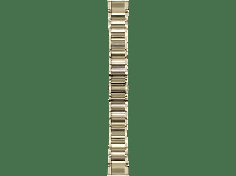 GARMIN Quickfit, Ersatzarmband, GARMIN®, Approach® S60 / Fenix® 5 / Forerunner® 935 / Quatix® 3/5 Saphir, Goldfarben