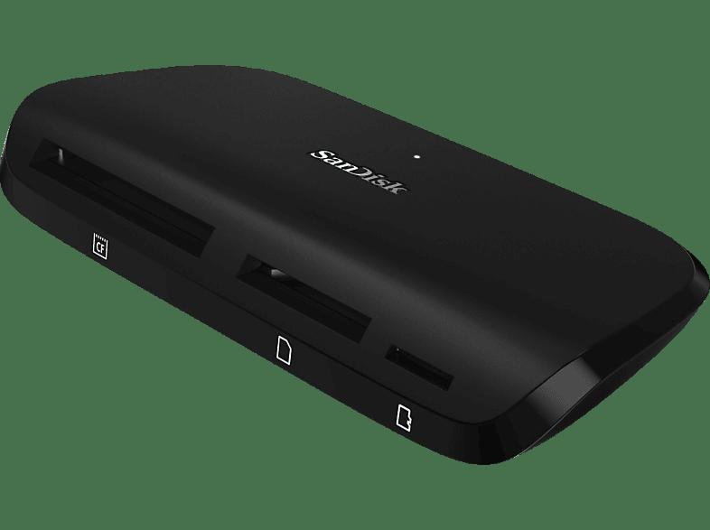 SANDISK ImageMate USB-3.1-Kartenleser , Schwarz