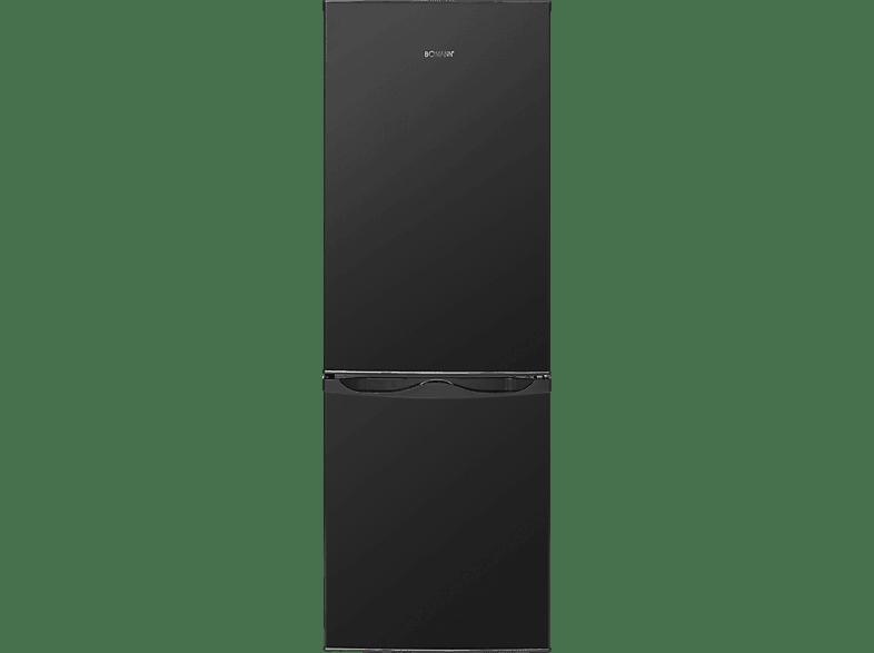 BOMANN KG 322  Kühlgefrierkombination (A+++, 110 kWh/Jahr, 1430 mm hoch, Schwarz)