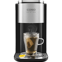 CASO HW500 Touch Turbo Heißwasserspender Wasserkocher, Schwarz/Edelstahl
