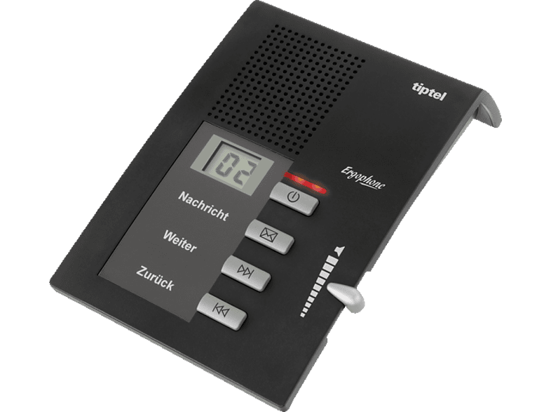 TIPTEL Ergophone 307 Anrufbeantworter, Anthrazit