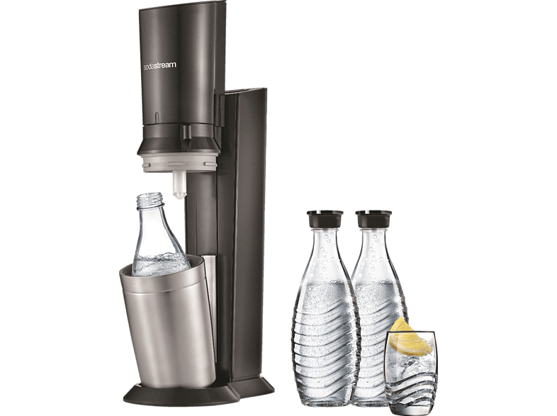 Sodastream Crystal 2.0 + 3 Glaskaraffen