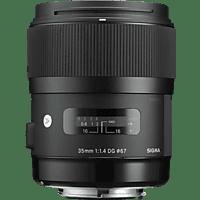 SIGMA 340965 35 mm f/1.4 ASP, DG, HSM, IF (Objektiv für Sony E-Mount, Schwarz)