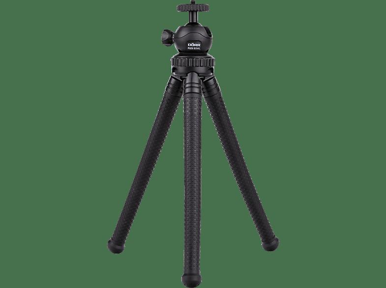 DÖRR FLEX BOWL FB-2830 Dreibein Stativ, Schwarz, Höhe offen bis 280 mm