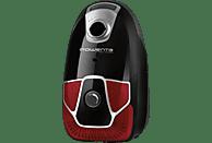 ROWENTA RO6823EA X-trem Power Classic+ 4A+ (Mit Beutel, Schaumstofffilter, High-Filtration-Filter, Schwarz/Rot)