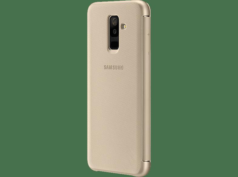 SAMSUNG Wallet , Bookcover, Samsung, Galaxy A6+, Gold