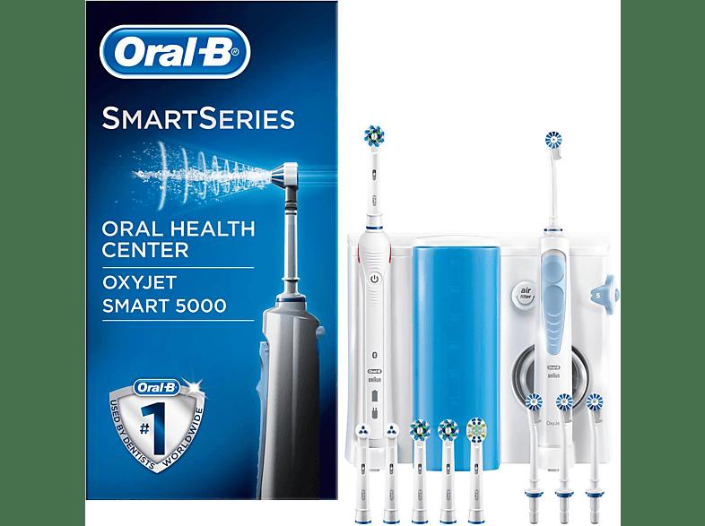 ORAL-B Smart 5000 + OxyJet Center Mundpflegecenter Weiß/Blau