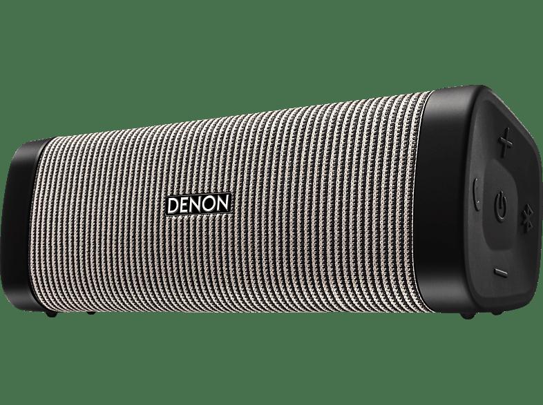 DENON Envaya DSB-250BT Bluetooth Lautsprecher, Grau, Wasserfest