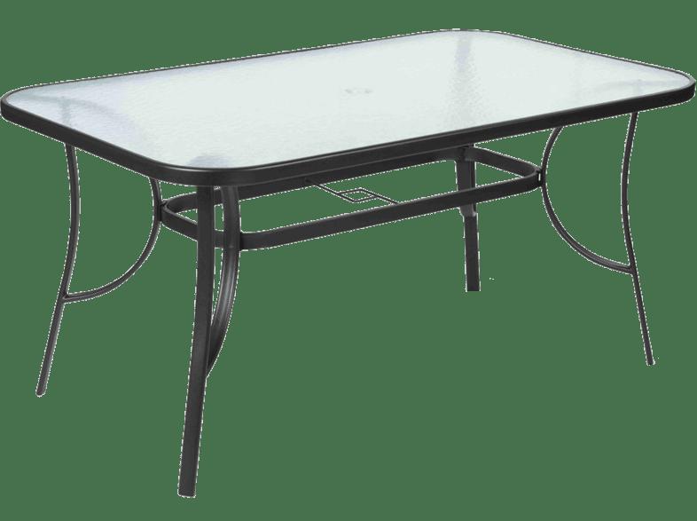 FIELDMANN FDZN 5020 Fémvázas asztal, üveglappal Media
