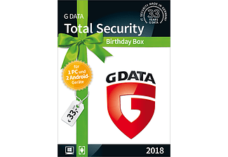 Total Security Birthday Box (1x G DATA Total Sec. PC+ 2x G DATA Mobile Internet Sec. Android)