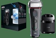 BRAUN Series 5 5050cc Elektrorasierer Limitierte Auflage mit Clean&Charge-Station Rasierer Schwarz/Rot