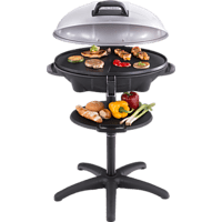 CLOER 6789 Barbecue Elektrogrill, Schwarz (2400 Watt)
