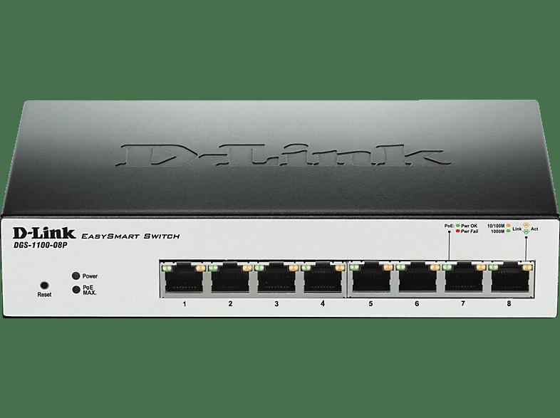 Smart Switch D-LINK 8-Port Layer2 PoE Smart Gigabit Switch 8
