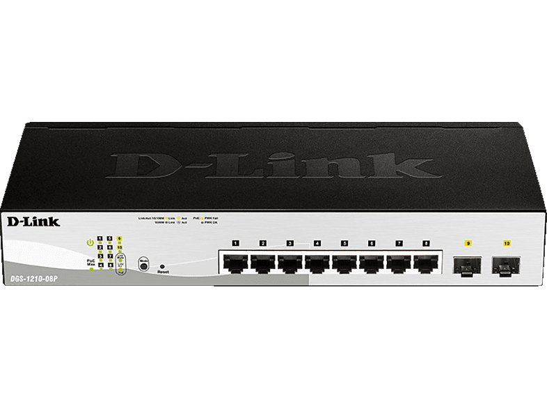 Smart Switch D-LINK 8-Port Layer2 PoE 10