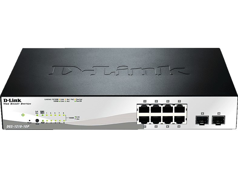 Smart Switch D-LINK 10-Port Layer2 PoE 10