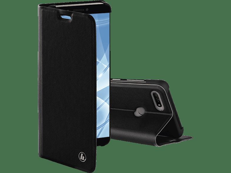 HAMA Slim Pro , Bookcover, Huawei, Honor, Y7 (2018), 7C, Polyurethan (PU), Schwarz
