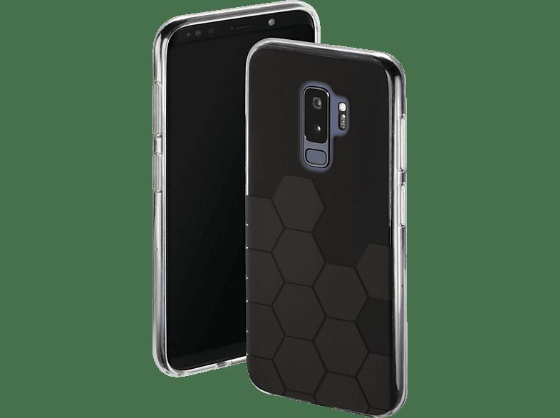 HAMA Hexagon , Backcover, Samsung, Galaxy S9+, Thermoplastisches Polyurethan, Schwarz