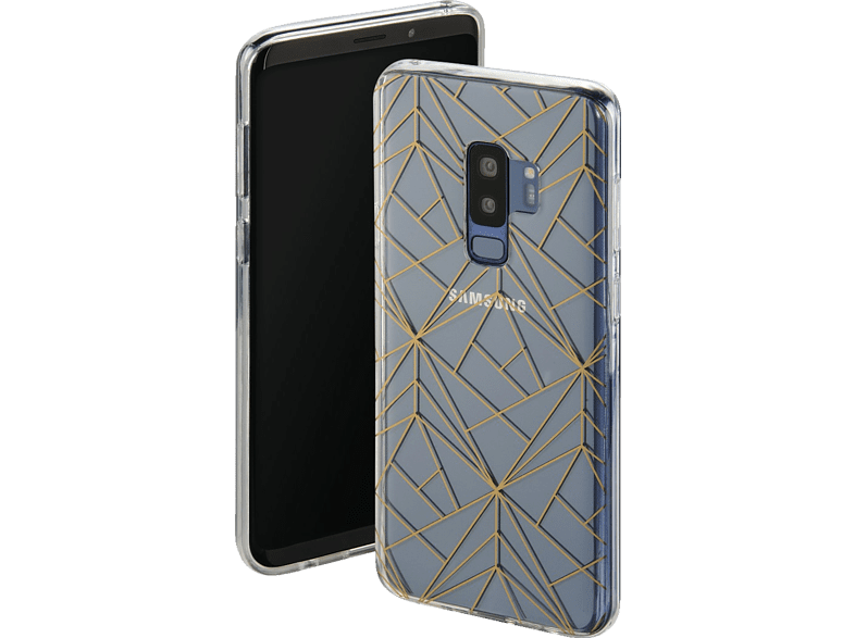 HAMA Golden Graphics , Backcover, Samsung, Galaxy S9+, Thermoplastisches Polyurethan, Transparent