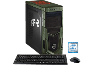 HYRICAN MILITARY 5885, Gaming PC mit Core™ i5 Prozessor, 8 GB RAM, 120 GB SSD, 1 TB HDD, GeForce® GTX 1050 Ti, 4 GB