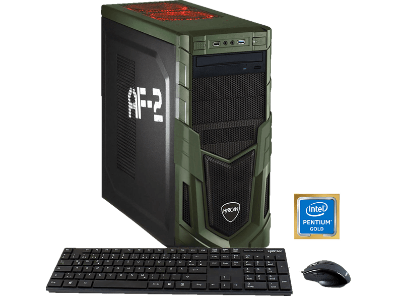 HYRICAN MILITARY GAMING 5877, Gaming PC mit Pentium® Prozessor, 8 GB RAM, 1 TB HDD, GeForce® GTX 1050, 2 GB