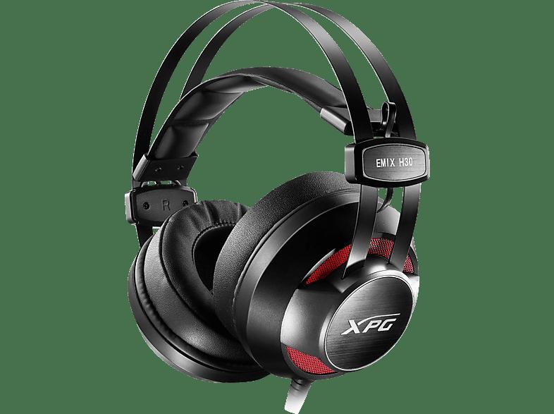 ADATA XPG H30 + SOLOX F30 Headset + Verstärker Schwarz/Rot