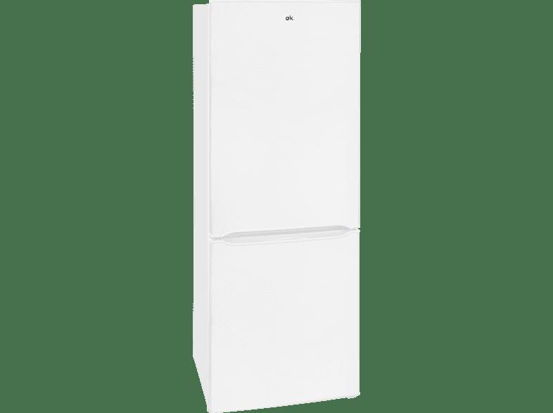 OK. OFK 24432 A2  Kühlgefrierkombination (A++, 160 kWh/Jahr, 1430 mm hoch, Weiß)