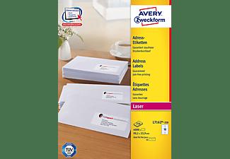 AVERY ZWECKFORM Adress-Etiketten, 99,1 x 33,9 mm, 250 Bogen/4.000 Etiketten, weiß (L7162-250)