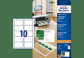 AVERY ZWECKFORM Visitenkarten, 85 x 54 mm,einseitig beschichtet, 5.000 Karten /500 Bogen(C32011-500)