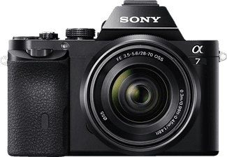 SONY Alpha 7 Kit (ILCE-7KB) + Tasche + Speicherkarte Systemkamera mit Objektiv 28-70 mm f/5.6, 7,6 cm Display, WLAN