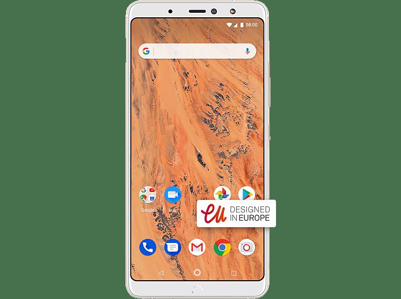 BQ Aquaris X2 32 GB White/Sand Gold Dual SIM
