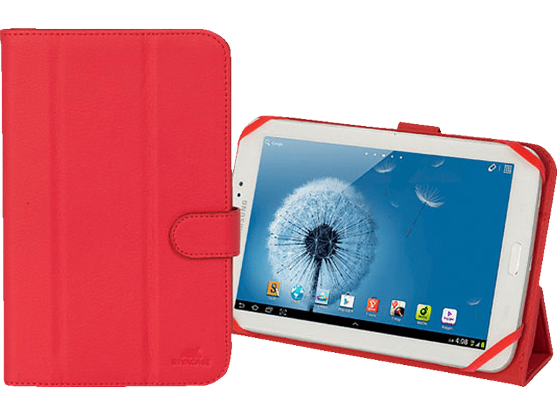 RIVACASE 3132 Tablethülle, Bookcover, 8 Zoll, Rot