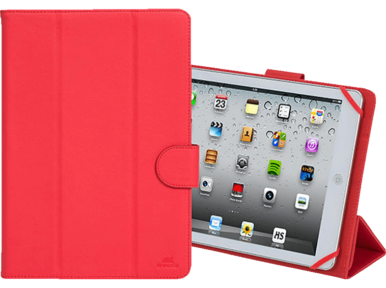 RIVACASE 3137 Tablethülle, Bookcover, 10.1 Zoll, Rot