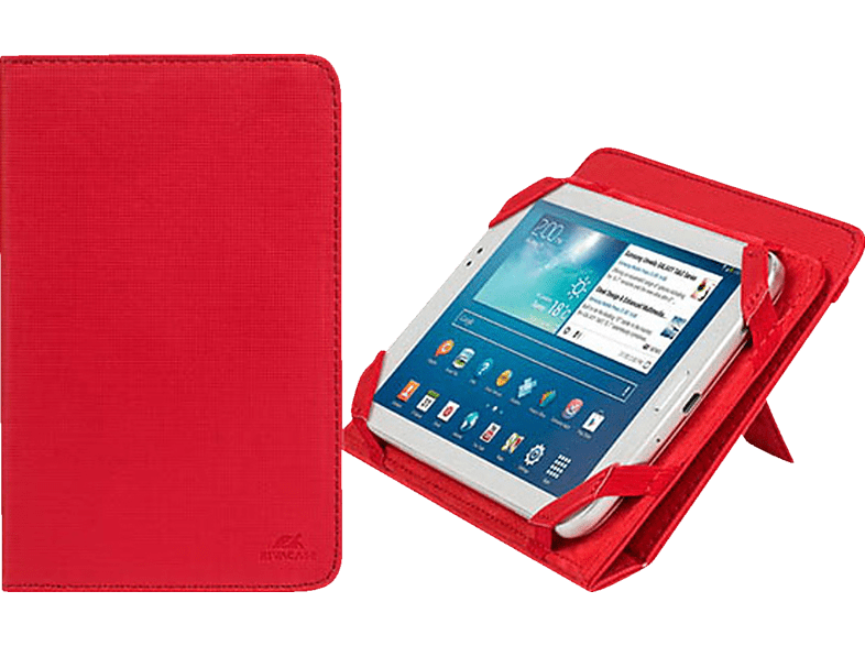 RIVACASE 3212 Tablethülle, Bookcover, 7 Zoll, Rot